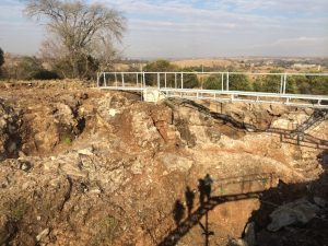 The surface layers at Sterkfontein Cave in the Cradle of Humankind, South Africa.