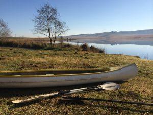 Taking the kayak out on Zonk Lake. Photo by Tesla Monson