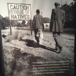 A panel from the Apartheid Museum at the Mandela Capture Site near Howick in KwaZulu-Natal. Photo by Tesla Monson
