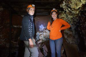 Marianne Brasil and Tesla Monson in Sterkfontein Cave. Photo by Leslea Hlusko.
