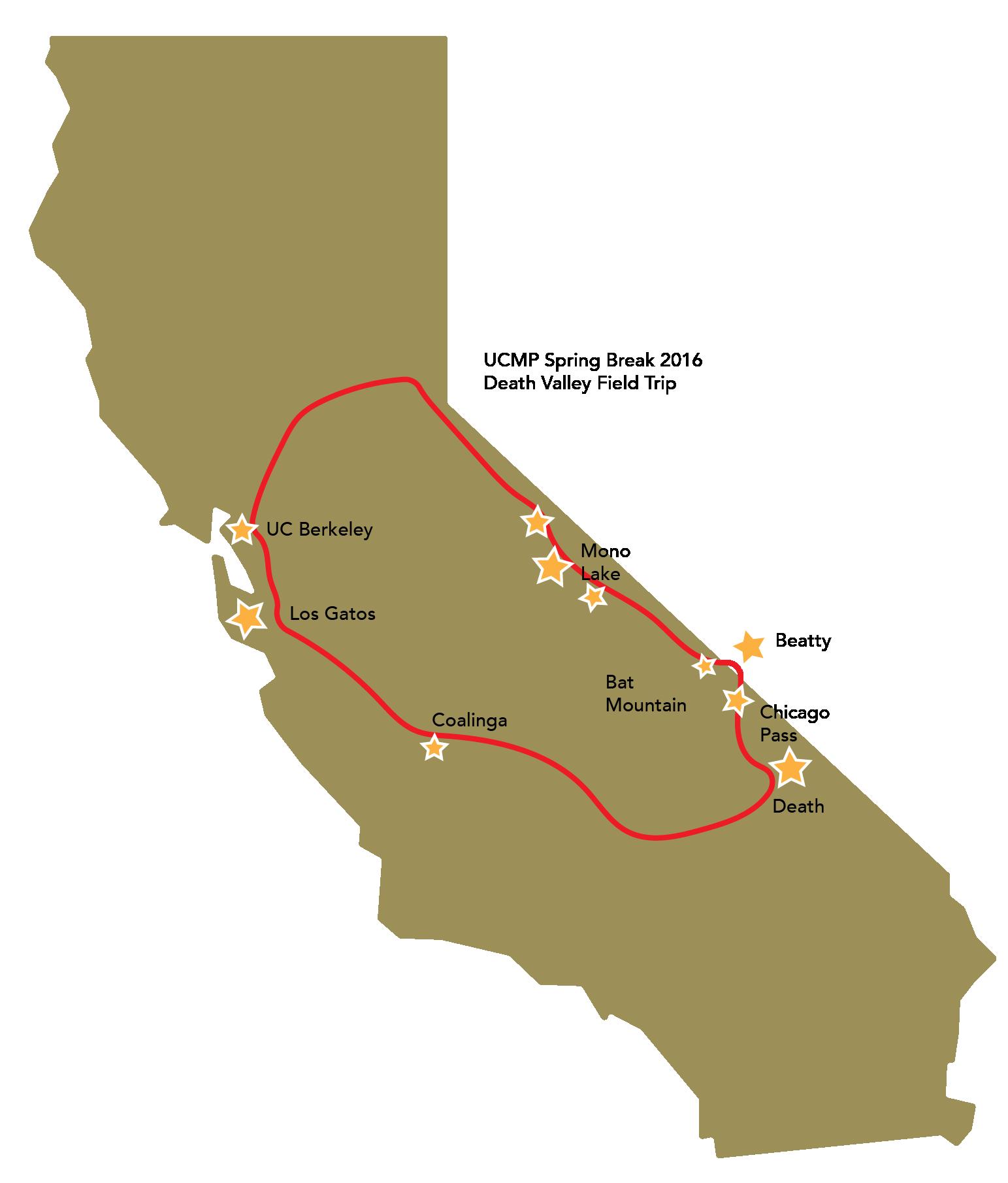 Map of field trip stops