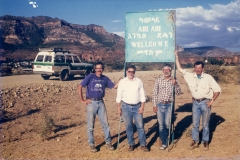Mark Goodwin, C.B. Wood, J. Howard Hutchison, and Chuck Schaff in Abi Adi Ethiopia, 1998.